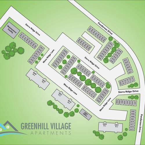 Greenhill Village Apartments Sitemap