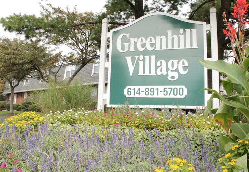Greenhill Village Apartments Sign